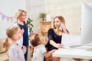 Digital Daycare Frustrated Parent